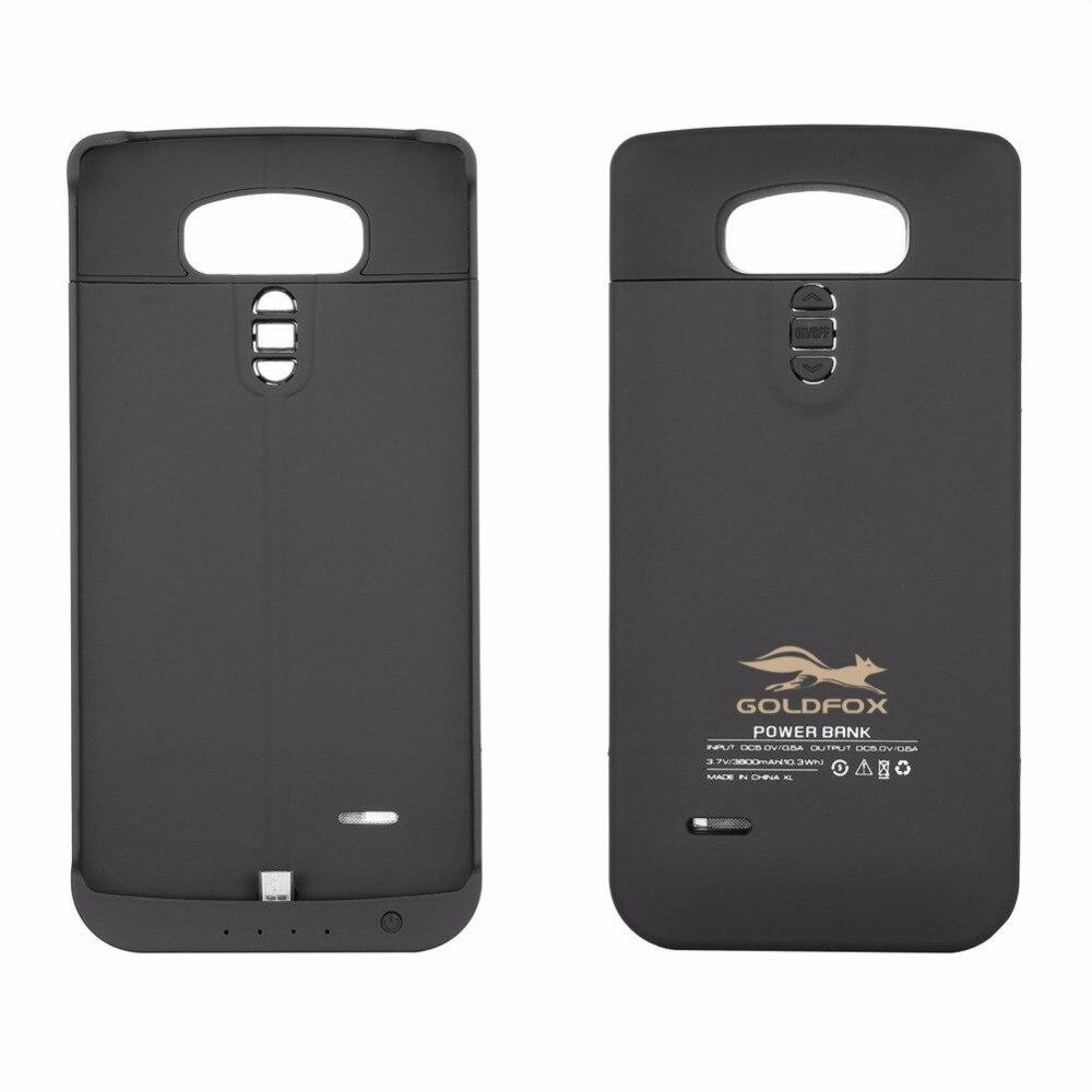 Goldfox 3800 мАч Перезаряжаемые Резервное копирование Внешняя Батарея Зарядное устройство чехол для <font><b>LG</b></font> <font><b>G4</b></font> Запасные Аккумуляторы для телефонов Мощ&#8230;