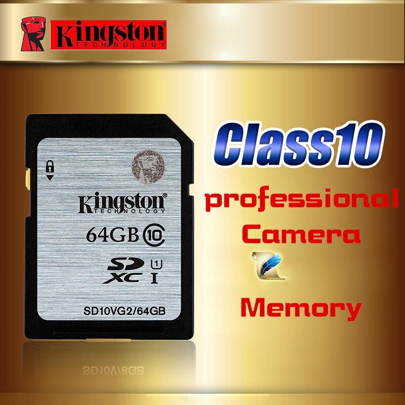 Kingston Memory Card 64GB class10 High Speed Sd Card SDHC/SDXC 64gb cartao de memoria carte sd tarjeta UHS-I For Camera HD video kingston sdxc 64gb class10 sd10vg2 64gb