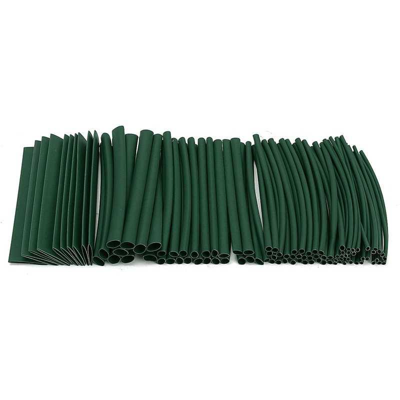 100ピースセット7色ポリオレフィンハロゲンフリー2:1熱収縮チューブチューブスリーブ用ラップワイヤースリーブケーブルスリーブキット