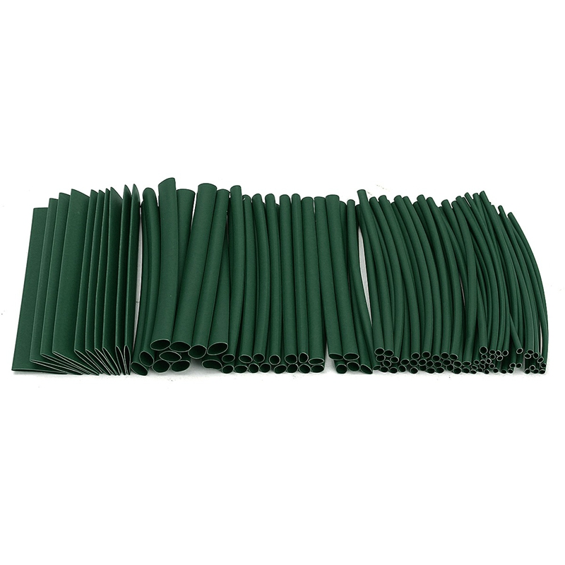 100Pcs Set 7 Color Polyolefin Halogen-Free 2:1 Heat Shrink Tube Tubing Sleeve for Wrap Wire Sleeve Cable Sleeving Kits
