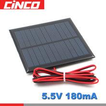 5.5 V 180mA 1W Solar Panel Portable DIY Module System For Solar Lamp Battery Toys Phone Charger Solar Cells 5.5V Volt 1 W Watt(China)