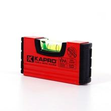 Капро Высокая чувствительность Портативный Уровень пузырьковый Инклинометр Измерительные инструменты с магнитной Мини карманный уровень измерительная линейка инструменты
