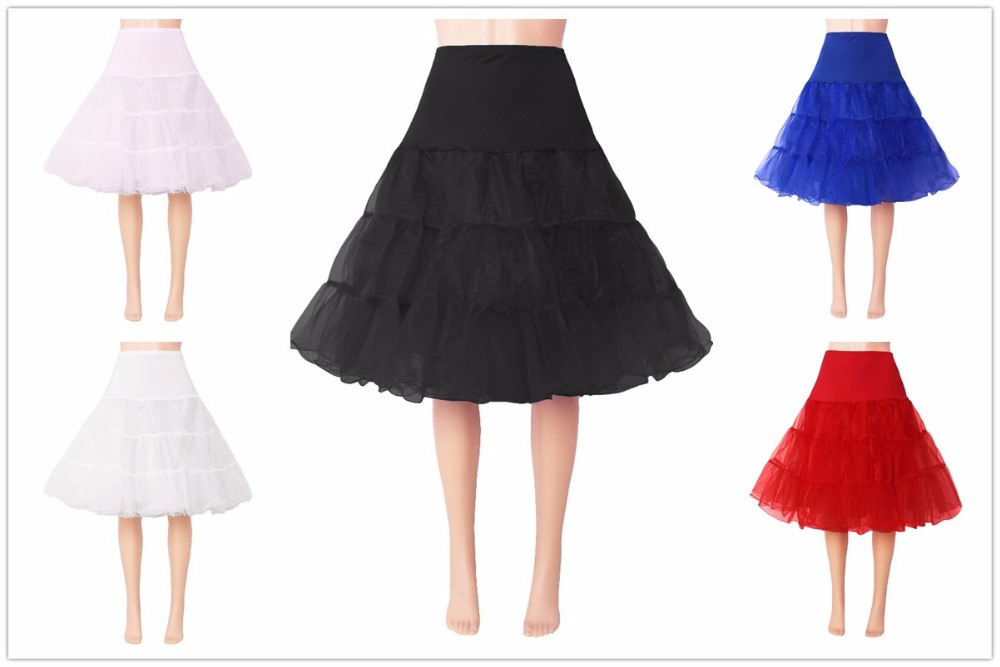 Sapphire Bridal 100% Real Photos In Stock Women's Ruffles Organza Crinoline Underskirt Women's Short Petticoat Hoopless
