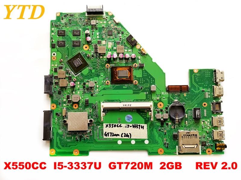 Original for ASUS  X550CC laptop motherboard X550CC  I5-3337U  GT720M  2GB    REV 2.0 tested good free shippingOriginal for ASUS  X550CC laptop motherboard X550CC  I5-3337U  GT720M  2GB    REV 2.0 tested good free shipping