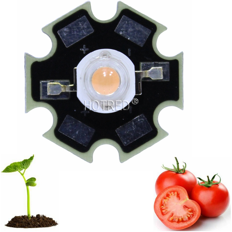 5 <font><b>10</b></font> 20 <font><b>50</b></font> 100pcs 1W 3w BridgeLux High Power Full spectrum 400nm-840nm LED Chip Plant Grow light Part with 20mm Or 16mm Plates image