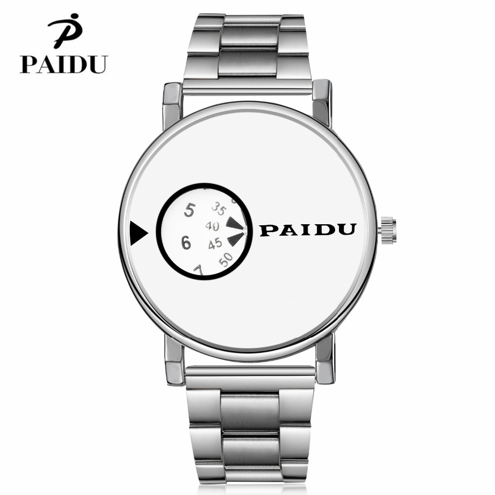 Newest Paidu Watch Men Fashion Luxury Elegant Full Steel Watch Ladies Wristwatch Male Clock quartz relojes high quality watches design for men full steel watch quartz fashion hot sale relojes male watches fashions luxury round dial famous brand relogios