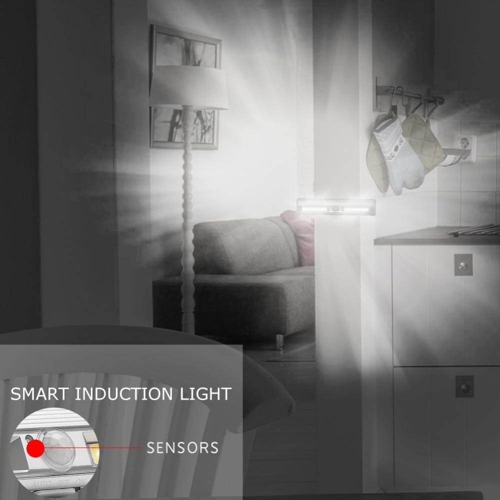 PANYUE 10 stücke LED Unter Kabinett Licht Motion Sensor Lampe beleuchtung für Schrank Schrank Schrank Küche nacht licht magnet - 5