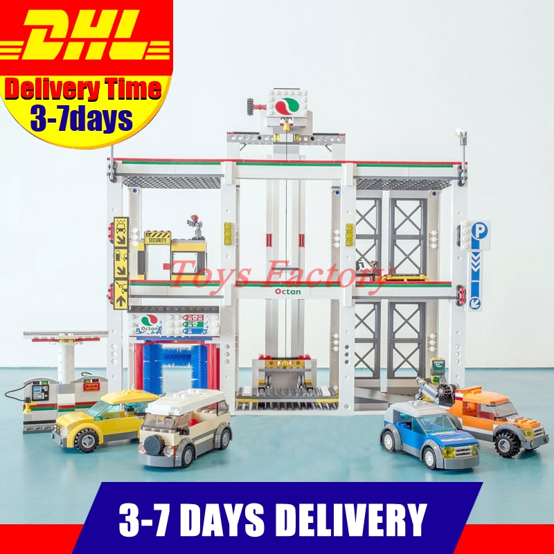 DHL Lepin 02073 Genuine 1045Pcs Assemblage City Series The City Garage Set 4207 Building Blocks Bricks Toys As Boy Birthday Gif dhl lepin 02038 1767pcs city series the city square education building blocks bricks toys compatible 60097 in stock