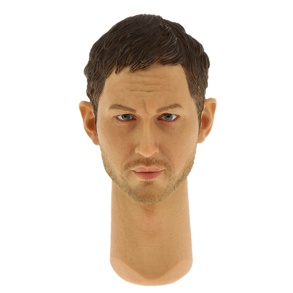 7cm 1/6 Scale Male Head Sculpt for 12 inch Action Figure Kumik 15-21 Body Accessory Realistic Facial Head Carving Model Toys цена