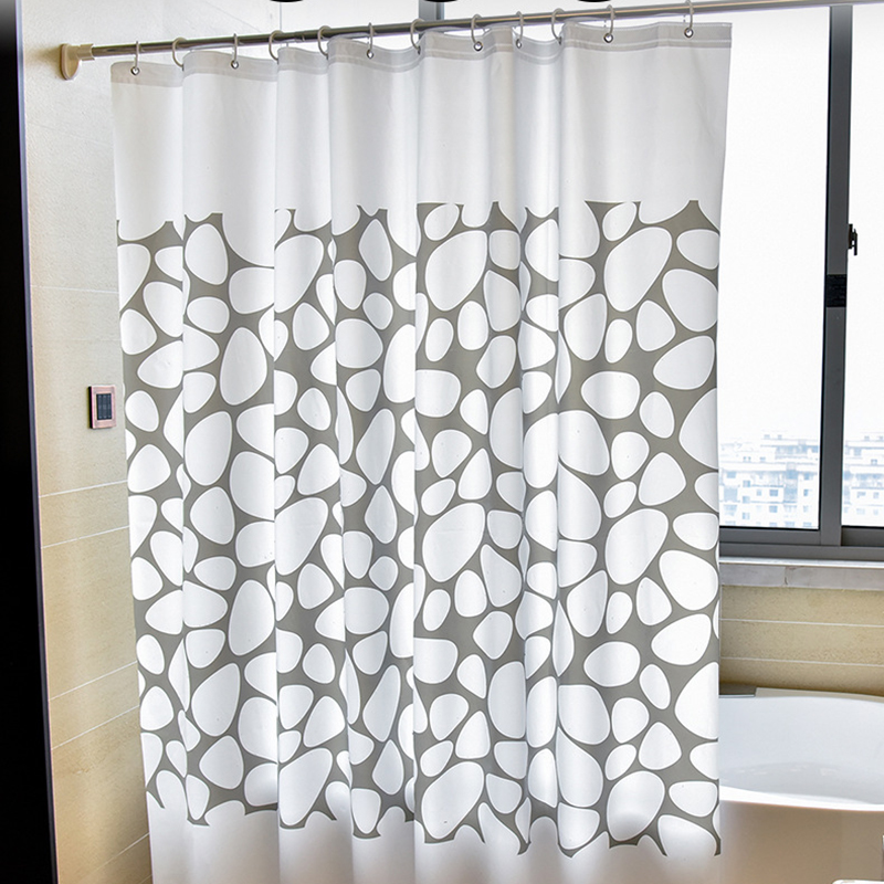 White Grey Bathroom Curtains: 1pcs White Gray Bathroom Curtain Waterproof Shower