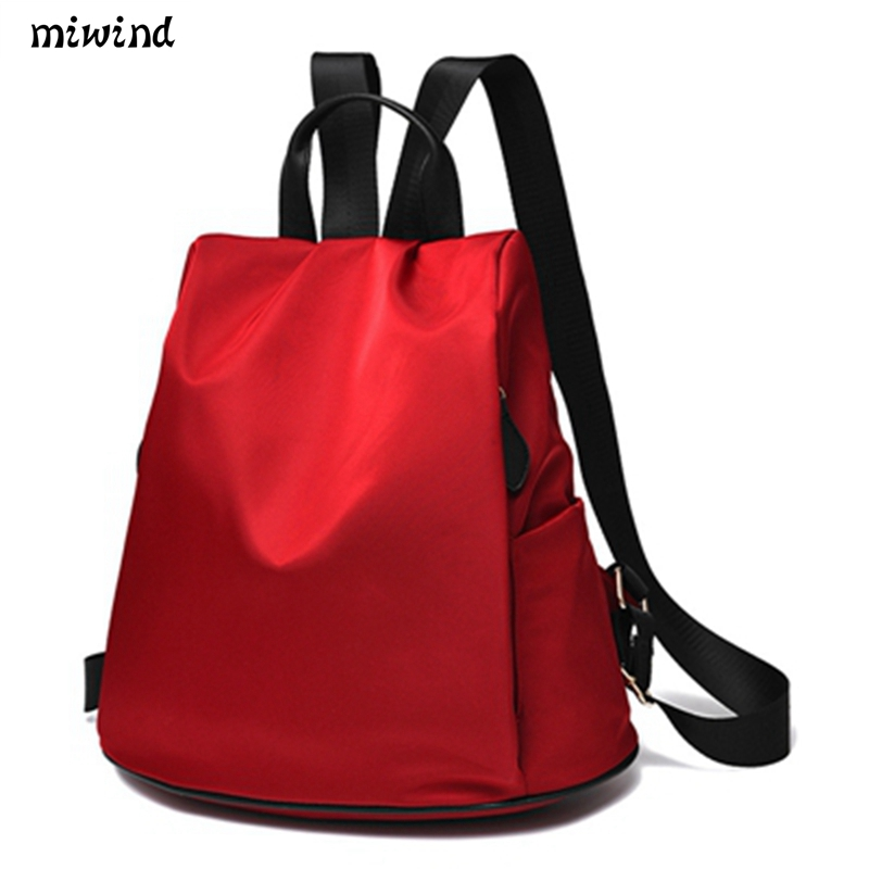 Preppy Style Women Backpack Waterproof Nylon Backpack 10 Colors Lady Women's Backpacks Female Casual Travel Bag Mochila Feminina new 2017 women backpack waterproof nylon lady school bag women s backpacks female casual travel backpack bags mochila feminina