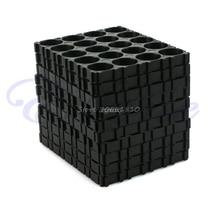 مجموعة 4x أسود 18650 بطارية 4x5 خلية فاصل يشع شل حزمة البلاستيك الحرارة حامل بالجملة و دروبشيب