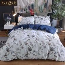 Bonenjoy Plant Flower Bedding Queen Size Duvet Cover Американский стиль Постельное белье с одним одеялом Комплект для спальни с наволочкой