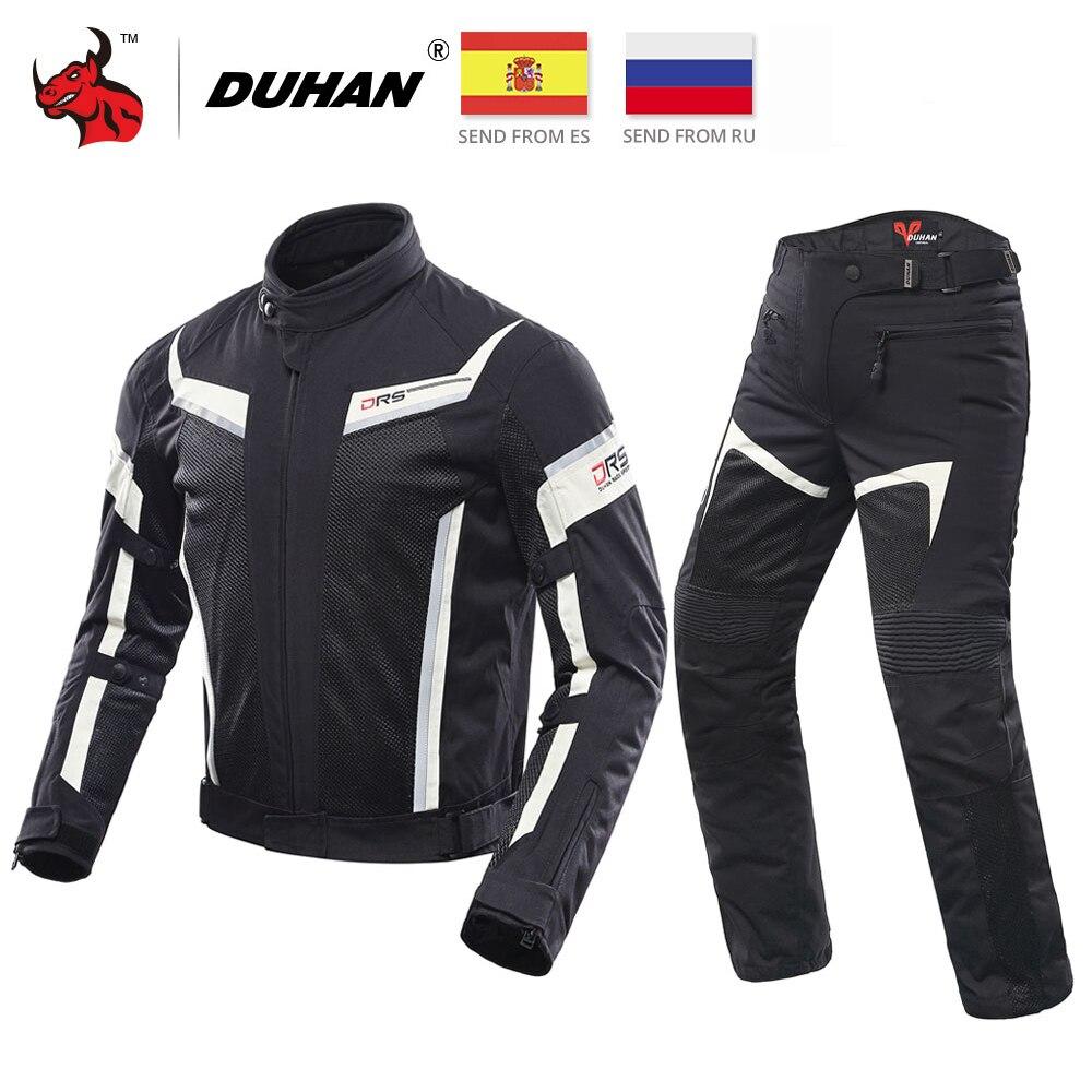 DUHAN Motorcycle Jacket Men Motocross Off Road Jacket Breathable Mesh Moto Jacket Protective Gear Motobike Racing