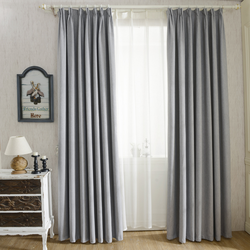 Charmant Solid Colors Faux Linen Modern Blackout Curtains For The Bedroom For Living  Room Window Curtains Blinds Custom Made In Curtains From Home U0026 Garden On  ...