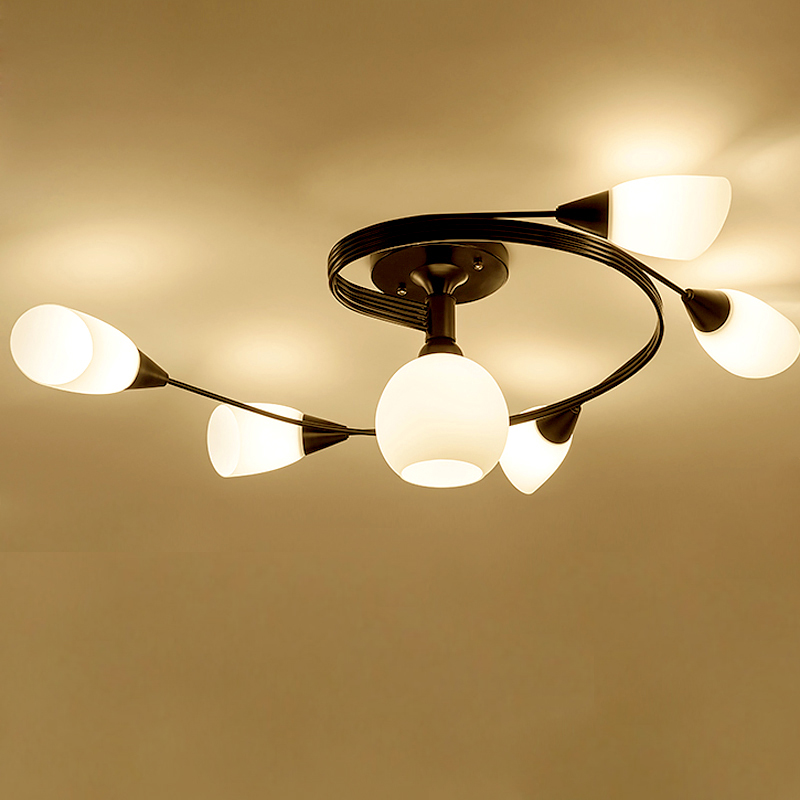 Iron art led ceiling lights AC110/220V available ceiling lamp for Home study room living room Dining Room Study Bar