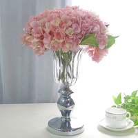 Europe Luxury Crystal Glass Vase High foot transparent Flower Vase Classical American Flower Arrangement Craft Home Decoration