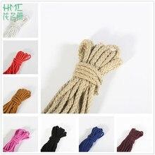 5 ярдов, 19 цветов, 6 мм, полиэфирная хлопковая веревка, декоративная скрученная веревка для украшения ручной работы, шнур для самостоятельной сборки
