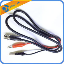 CCTV BNC to Alligator Crocodile Clip Oscilloscope Probe Coaxial Cable 1m length For AHD TVI CVI 1080P DVR CCTV Security Kits