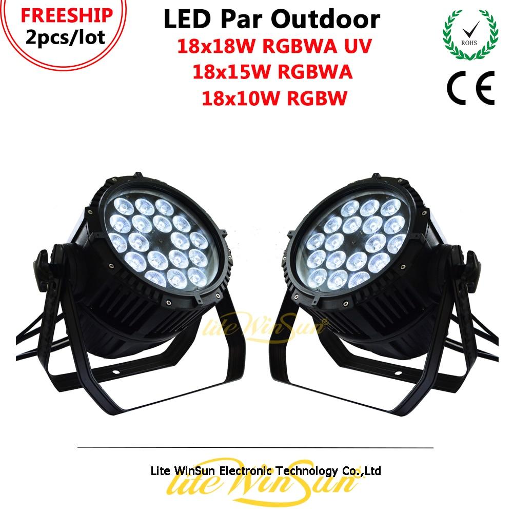 Litewinsune FREESHIP 18*18W RGBWA UV LED Par Light Disco DJ Par LED Light Outdoor