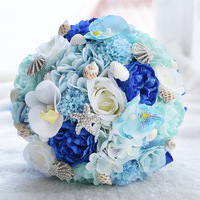 Blue Wedding Bouquet De Mariage Wedding Flowers Bridal Bouquets Wedding Accessories Artificial Wedding Bouquets Brides Bouquet