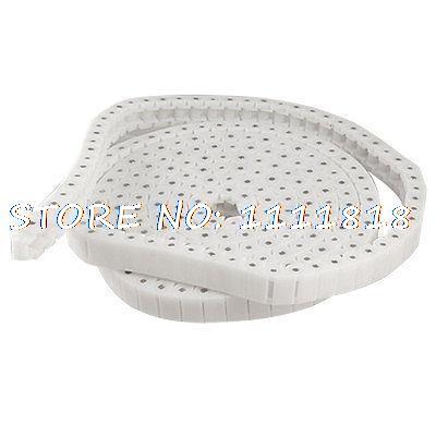 PC40 Белый пластиковый цепной передачей ролика 8мм диаметр 3 метра