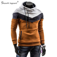Moleton Masculino 2016 Autumn Slim Hoodies Men Sweatshirt Long Sleeve Pullover Hooded Sportswear Male Patchwork Fleece Tracksuit
