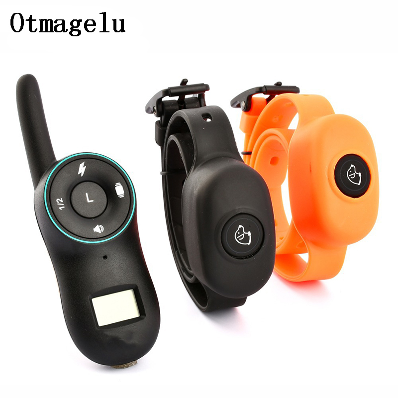 New Electric Dog Training Collars IP67 Waterproof Rechargeable Dog Collar With 400m Remote Control Receiver Pet