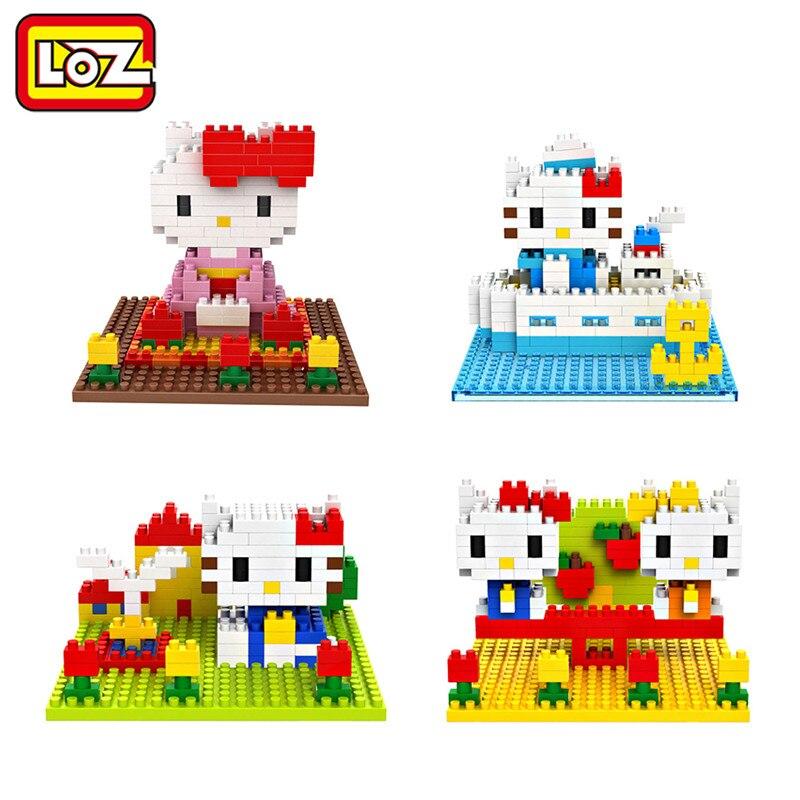 LOZ Diamond Building Blocks Hello Kitty Toys Mimi 4 Style ABS Model Children Toys Christmas Gift 14+ Original Box