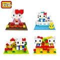 LOZ Diamond Building Blocks Juguetes Del Gatito Hola Mimi 4 Estilo ABS Modelo Niños Juguetes de Navidad de Regalo 14 + Caja Original