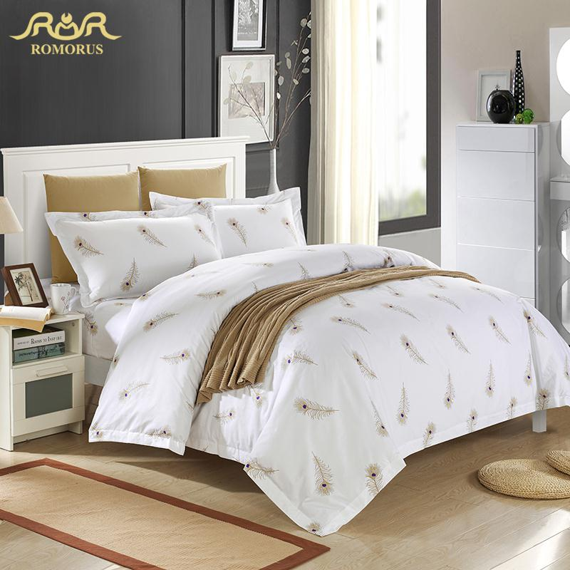 Aliexpress Com Buy Luxury White Hotel Duvet Cover Set