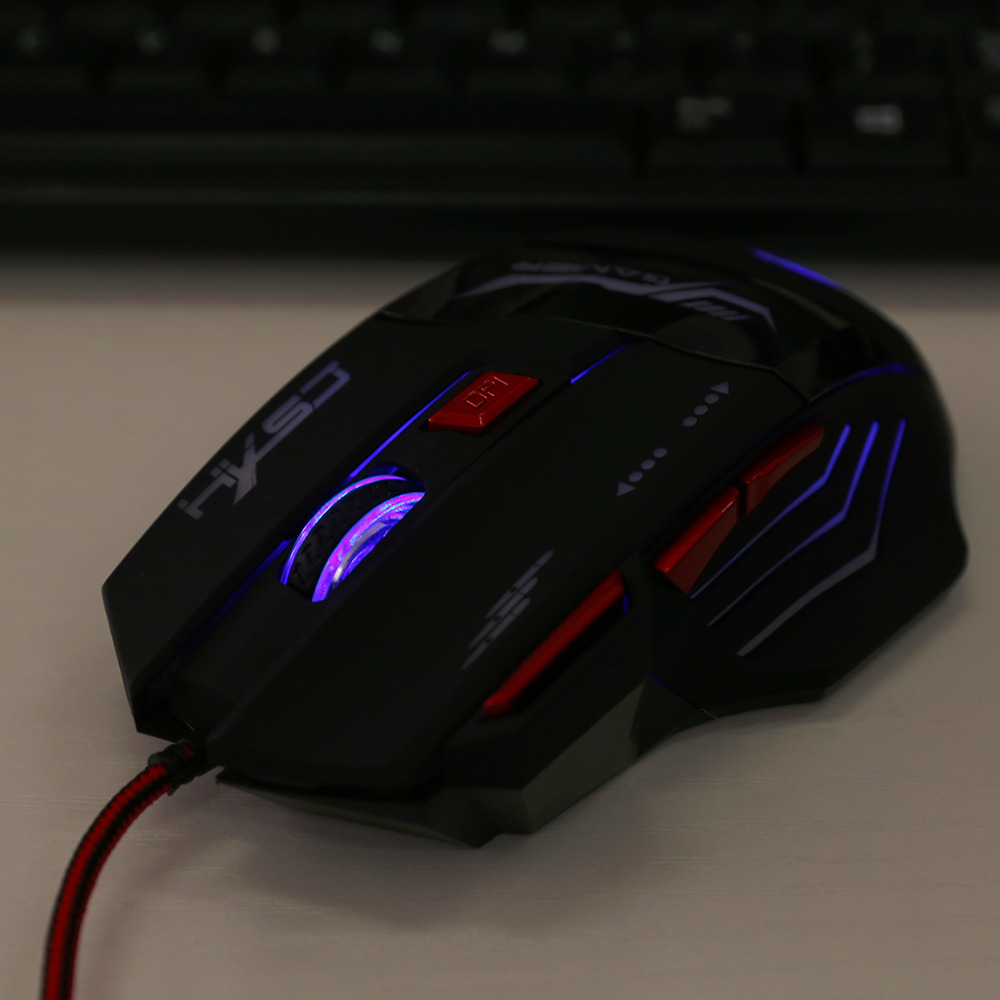 5500DPI Gaming Mouse Professional Gaming Devices Adjustable 5500DPI Wired Gaming Mouse 7 Buttons Luminescence Computer Mouse