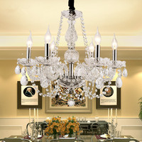 Modern chandelier lighting K9 Clear lustres para quarto Bedroom Living room Kitchen Dining room Wedding Decorate Chandelier lamp