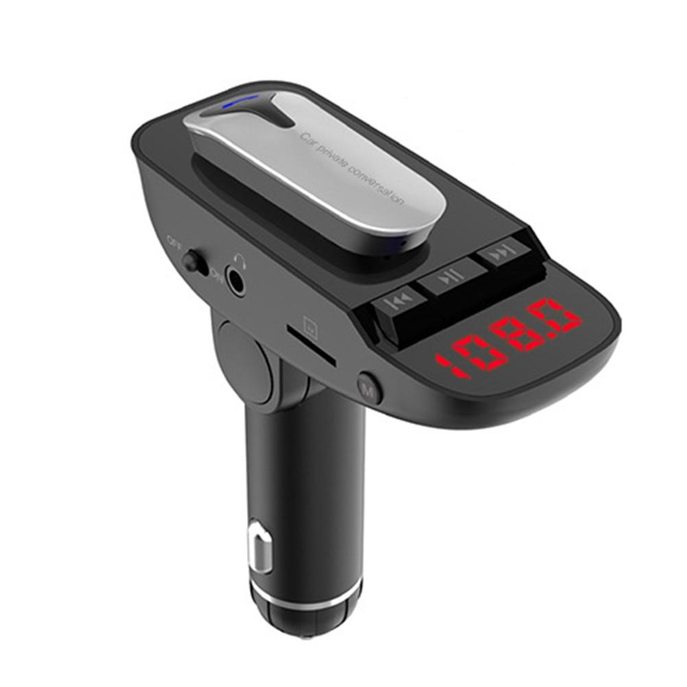 Voor Auto Quick Opladen Handsfree Mp3 Mobiele Telefoon Oplader Voor Veilig Rijden Dual Usb Er9 Een Klik Antwoordapparaat Draadloze Headset Bright Luster