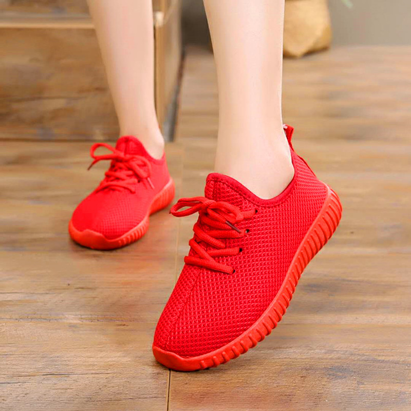 Casual Sneakers Vulcanized-Shoes Trainers Tenis Knitted Feminino Female Summer Women