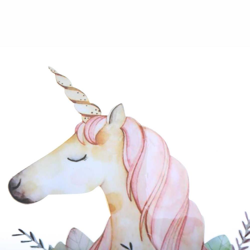 1 Cái Dễ Thương Phim Hoạt Hình Unicorn Vá cho T-Shirt Dresses Sweater Có Thể Giặt Truyền Nhiệt Đính Hoa Patches Ví Quần Áo
