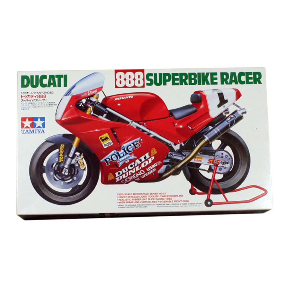 OHS Tamiya 14063 1/12 888 SuperBike Racer Scale Assembly Motorcycle Model Building Kits