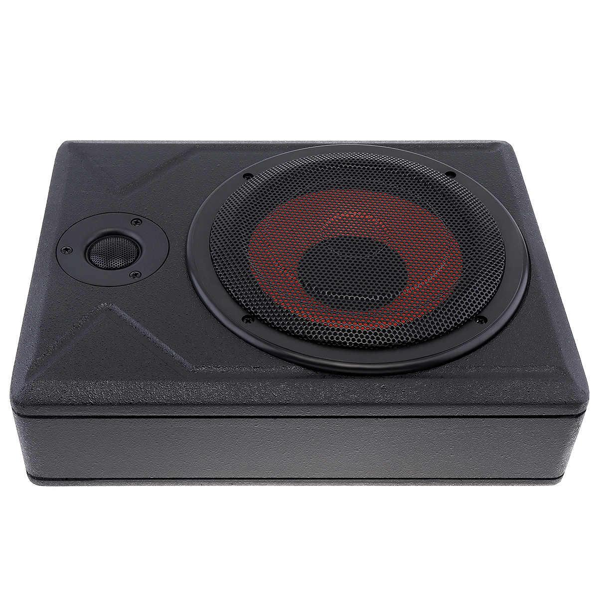 Universal 10 Inch Car Subwoofer Speaker 600W Slim Car Under Seat Car Active Subwoofer Bass Amplifier Speaker Black Fuselage Slim