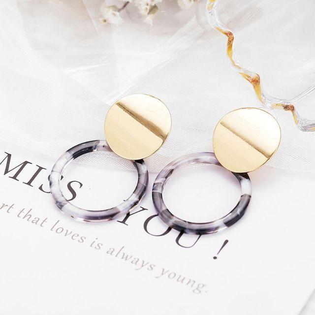 Resin Tortoise Shell Earrings For Women