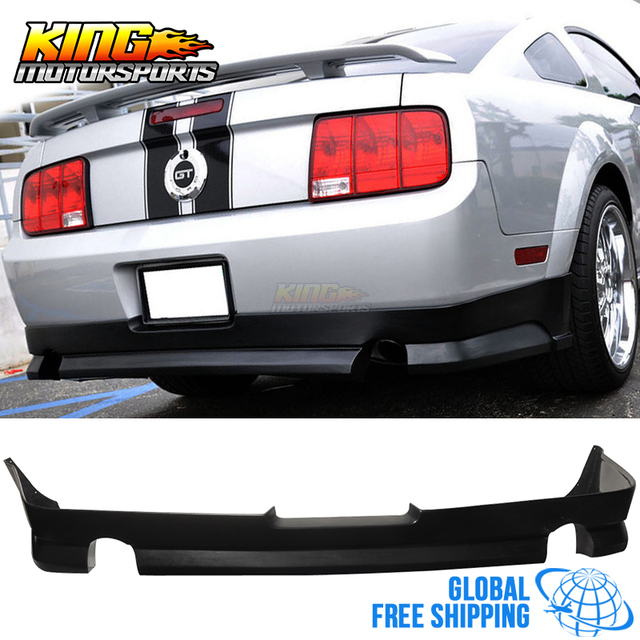 for 05 09 ford mustang v8 rear bumper lip poly urethane black
