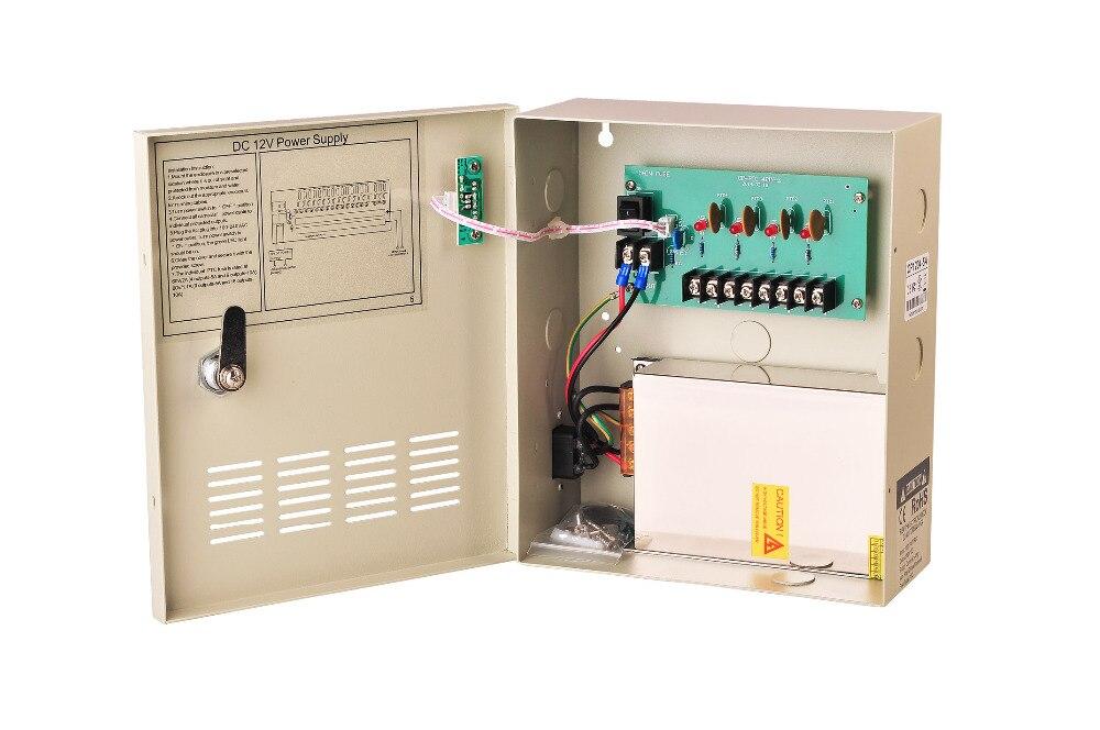 8PCS 4CH DC 12V 5A Output Power Supply Switch Box for CCTV System 4pcs 12v 1a cctv system power dc switch power supply adapter for cctv system