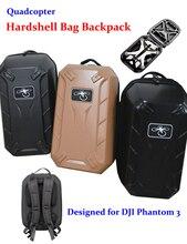 DHL Rígido A Prueba de agua Bolsa Mochila de Hombro Carry Case Caja de Cáscara Dura para Quadcopter FPV Drone DJI Phantom 3 pro Estándar