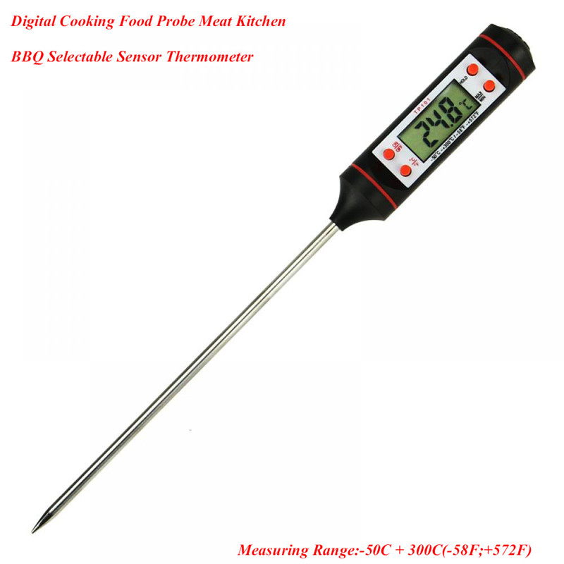 House Convenient Digital Food Thermometer,Probe Meat Kitchen BBQ Selectable Sensor Cooking Thermometer Drop Shipping ...