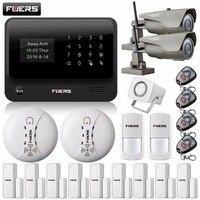 720P Outdoor IP Camera WiFi GPRS Door Gap Open Remind Sensor Internet GSM Alarm System Home