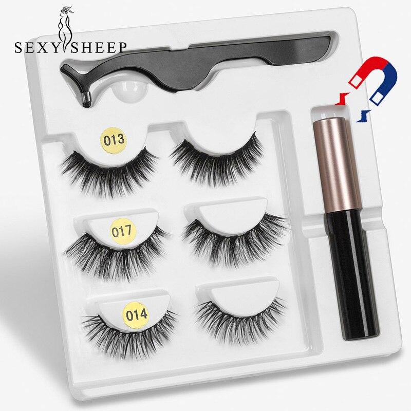 5-Magnet Eyelash Tweezer-Set Magnetic-Liquid-Eyeliner Long-Lasting Waterproof