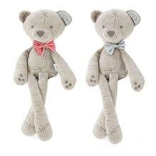 Regalo de bebé promoción juguete lindo bebé niños Animal oso dormir comodidad muñeca de peluche de juguete suave de peluche de juguete de conejo