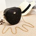 17 new spring and summer fashionable lovely heart-shaped Mini Handbag rivet Chain Bag cute small shell bags candy messenger bag