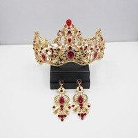 New bride jewelry wholesale wedding dress accessories retro Baroque crown baroque crystal hairband Luxury bridal jewelry 35