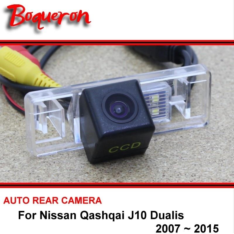 Pour Nissan Qashqai J10 j11 Dualis J10 2007-2015 Nuit Vision Arrière vue Caméra de Recul Caméra De Voiture Caméra de Recul HD CCD Véhicule