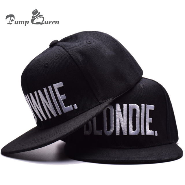 971e49ffa7c BLONDIE BROWNIE High Quality Embroidery Snapback Hats Cotton Women Gifts  Baseball Caps Hip-Hop Adjustable 2 pieces each combo